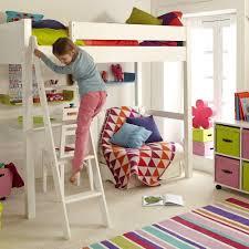High Sleeper Bed With Futon Warwick High Sleeper With Child U0027s Futon Silk White