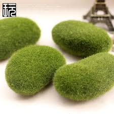 Garden Decor Accessories Simulation Flocking Moss Stone Artificial Grass Model Miniature