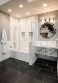 Black Bathroom Floor Tile Modern White On White Striation Bathroom Tile Icefall White