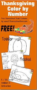 thanksgiving free thanksgiving color by number free