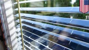 solar power window blinds with solar panels can block and harvest