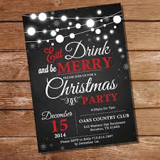 chalkboard christmas party invitation eat drink and be merry