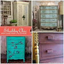 Shabby Chic Furniture Paint Colors by 54 Best Stencils And Chalk Paint Images On Pinterest Painted