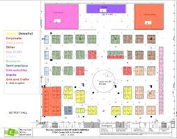 cobo hall floor plan exhibits commercial committee telugu association of north america