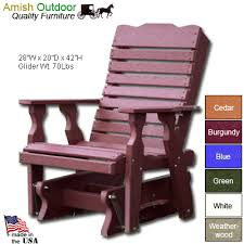 Blue Glider Chair Order Amish Outdoor Curveback Glider Chair From Shop Nc Com