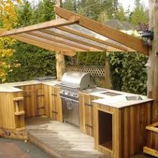 Outside Kitchen Design by Custom Outdoor Bar With Mini Fridge Storage Cabinet And Drawer