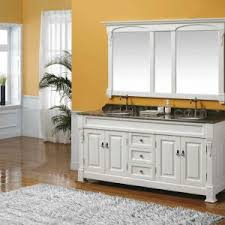 bathroom 72 inch white bathroom vanity and double bathroom mirror