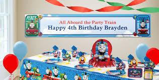 custom thomas the tank engine birthday banners party city