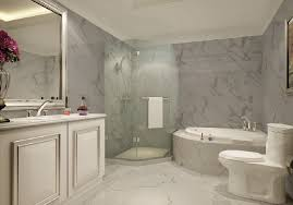 bathroom design model with bathtub and shower room new home