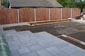 Patio Artificial Grass Driveway Patio And Artificial Grass Project In Worsley