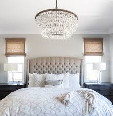 Two Tone Gray Walls by Lavish Tall Tufted Headboard For Dandy Bedroom Layout Horrible