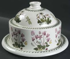 portmeirion botanic garden cheese dome with plate