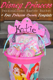 princess easter basket disney princess personalized easter basket free princess crown