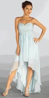 baby blue sweetheart neckline high low strapless dress