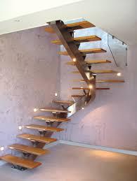garde corps bois escalier interieur escalier intérieur à limon central métallique forme demi tour