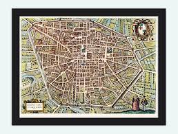map of bologna braun and hogenberg map and gravure of bologne bononia bologna