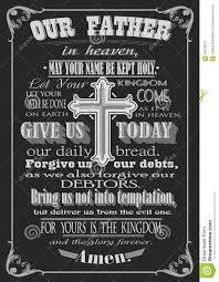 the lord u0027s prayer literal design vector illustration stock