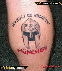 spartan tattoo of bayern munich tribute soccer tattoo tattoomagz