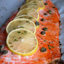 Cook Salmon In Toaster Oven Simple Baked Salmon With Lemon And Thyme Paleo Grubs