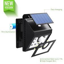 led solar security light mpowtech solar lights 4 pack led motion sensor wall light bright