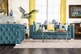 Fabric Sofa Sets by 2 Pcs Turquoise Premium Velvet Fabric Sofa Set Sm2282 Fabric