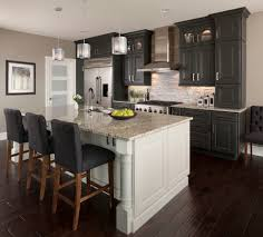 different height upper cabinets kitchen transitional with