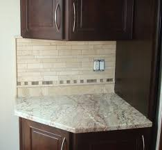 tumbled travertine w copper accents backsplash liking the