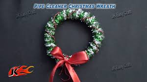 diy pipe cleaner christmas wreath how to make jk easy craft