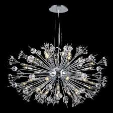 How To Clean Crystal Chandeliers W83111c36 Starburst 24 Light Chrome Finish And Clear Crystal