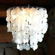 White Shell Chandelier Small Capiz Shell Chandelier And Pendant White West Elm With