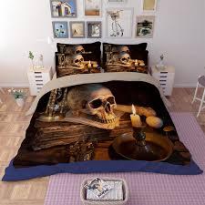Unique Bed Comforter Sets Fashion 3pcs Bedding Set Cool Unique 3d Skull Bedding Sets