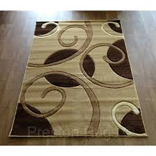 couture circle swirl carved rug beige brown cream