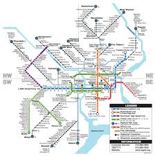 A Train Map Getting Around Philadelphia Walking Biking Public