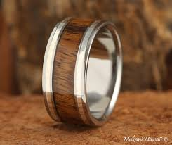 mens wedding bands mens wedding bands suppliers and manufacturers 10mm titianium koa wood inlaid mens wedding band makani hawaii