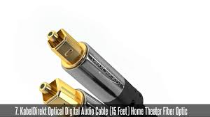 best audio cables for home theater best fiber optic cables top 10 best fiber optic cables youtube