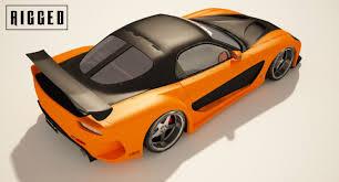 mazda sports car models 3d model mazda rx 7 veilside edition rigged cgtrader