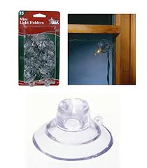 Amazon Com 25ct Mini Christmas Light Holder Suction Cup Clips Home