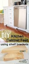Plans For Wooden Shelf Brackets by Decorative Accents Kitchen Base Cabinets With Feet In My Own Style