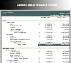 Balance Sheet Template Balance Sheet Template Free Excel Word Documents