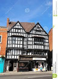 Tudor Architecture Shops In Tudor Buildings Tewkesbury Editorial Photo Image