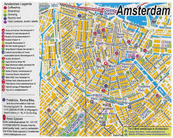 Bluebird Map Large Detailed Tourist Map Of Central Part Of Amsterdam City