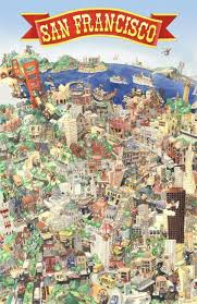 san francisco map painting san francisco who had this poster growing up it was in someone s