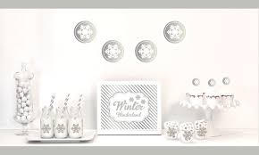 silver snowflake winter party ideas party ideas party printables
