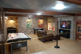 Cheap Basement Makeovers by Main Street Basement Finish So Want To Add Brick To The Wall In
