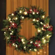 astonishing decoration wreath with lights lb