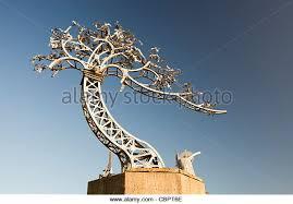 metal tree sculpture stock photos metal tree sculpture stock