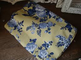 Shabby Chic Upholstery Fabric by Yellow And Blue Floral Fabric Country Floral Fabric 1 Yard