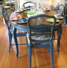 Antique French Dining Table French Inspired Dining Room French Aubusson Blue Looking French Country Painted Furniture Etc