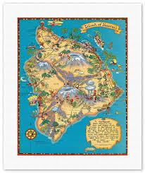 map of hawaii island prints posters hawaiian island of hawaii big island