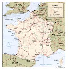 France Map With Cities by Driving Directions Map Of Roads And Highways Of France